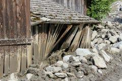 Os aluviões scar os montanheses de Áustria que seguem a chuva pesada UE Fotos de Stock