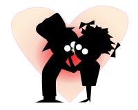 Os amantes beijam primeiramente Foto de Stock