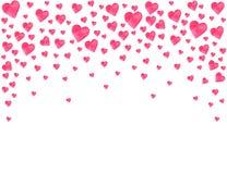Os amantes do feriado do convite das felicitações do dia da aquarela dos corações do dia de Valentim do cartão amam sentimentos ilustração stock