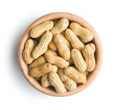 Os amendoins unpeeled Fotografia de Stock