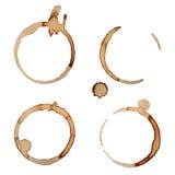 Os anéis da mancha do café do vetor ajustaram 2 Fotos de Stock Royalty Free
