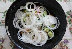 Os anéis de cebola Imagem de Stock