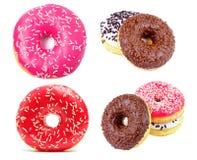 Os anéis de espuma coloridos bonitos com polvilham Coleção dos anéis de espuma Imagens de Stock Royalty Free