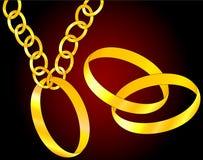 Os anéis dourados Fotos de Stock Royalty Free
