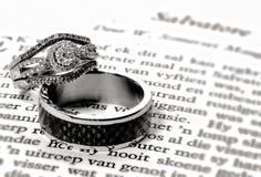 Os anéis - ligação do amor Imagem de Stock