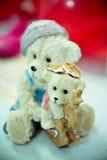 Os anéis nas flores, em uma caixa, em uma tela branca em brinquedos, cores, detalhes do casamento, alianças de casamento Fotos de Stock