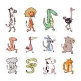 Os animais ajustaram o ícone, ilustração do vetor Fotos de Stock Royalty Free