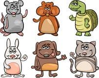 Os animais de estimação bonitos ajustaram a ilustração dos desenhos animados Imagem de Stock Royalty Free