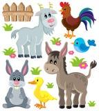 Os animais de exploração agrícola ajustaram 3 Imagens de Stock Royalty Free