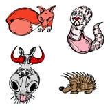Os animais do vetor ajustaram-se Fotografia de Stock Royalty Free