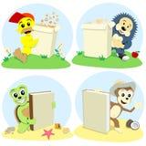 Os animais dos desenhos animados representam Imagem de Stock
