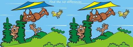 Os animais, encontram dez diferenças Imagens de Stock