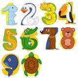 Os animais gostam de números ilustração royalty free