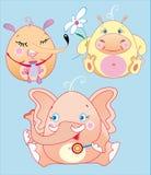 Os animais pequenos são bebês dos divertimentos ilustração stock