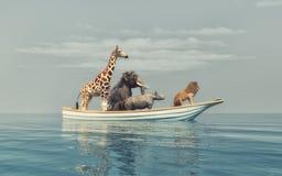 Os animais selvagens ilustração stock