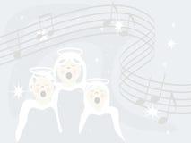 Os anjos cantam ilustração do vetor