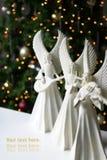 Os anjos do Natal dirigem o interior