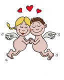 Os anjos estão no amor Fotografia de Stock