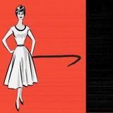 os anos 50 denominam a mensagem retro ilustração royalty free
