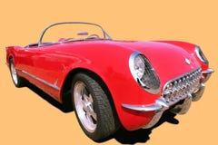 Os anos 70 vermelhos do carro do vintage fotos de stock royalty free