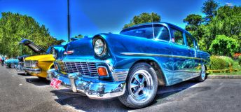 Os anos 50 americanos Chevy do vintage Imagens de Stock Royalty Free