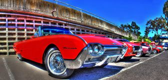 Os anos 60 americanos clássicos Ford Thunderbird Imagens de Stock Royalty Free