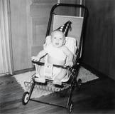 Os anos 50 da imagem do bebê do aniversário do vintage Fotos de Stock
