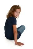 Os anos de idade nove bonitos Imagens de Stock