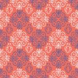 os anos 50 denominam Daisy Flower Seamless Vetora Pattern retro Damasco floral popular ilustração stock