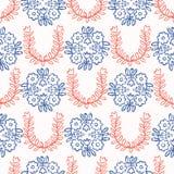 os anos 50 denominam Daisy Flower Seamless Vetora Pattern retro Edredão floral popular ilustração do vetor