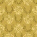 os anos 50 denominam Daisy Flower Seamless Vetora Pattern retro Povos florais ilustração royalty free