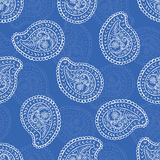 os anos 50 denominam Daisy Paisley Seamless Vetora Pattern retro Motivo étnico popular do laço da flor ilustração do vetor