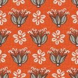 os anos 50 denominam a ilustração sem emenda floral da flor do vintage de Daisy Vetora Pattern Hand Drawn ilustração royalty free