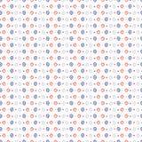 os anos 50 denominam o teste padrão retro do vetor de Daisy Polka Dot Stripes Seamless ilustração do vetor