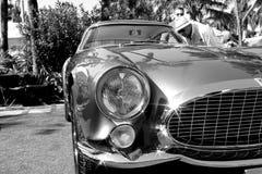os anos 50 Ferrari 250 detalhes da parte dianteira de TdF Imagem de Stock