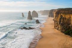 Os 12 apóstolos na grande estrada do oceano Fotografia de Stock Royalty Free
