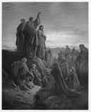Os apóstolos pregam o gospel foto de stock royalty free