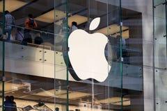 Os Apple Computer armazenam em Sydney - novembro 04, 2011 Fotografia de Stock Royalty Free