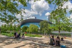 Os Aquatics centram-se, rainha Elizabeth Olympic Park fotos de stock