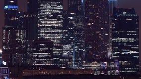 Os arranha-céus de Moscowcity da noite são caros vídeos de arquivo