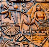 os artesanatos das esculturas pintaram o fundo Fotos de Stock Royalty Free
