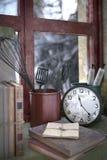 os artigos retros da janela fecham-se acima do illustr da composição 3d ilustração do vetor
