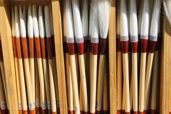 Os artistas multam escovas Fotografia de Stock Royalty Free