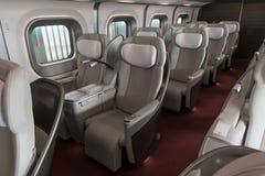 Os assentos da classe de Gran da bala da série E5 (de alta velocidade) treinam imagem de stock