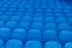Os assentos no estádio sob o filme Campeonato do mundo 2018 de FIFA foto de stock