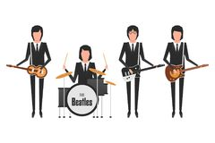 Os assuntos da faixa de Beatles Foto de Stock Royalty Free