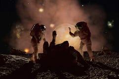 Os astronautas Fotografia de Stock Royalty Free