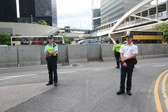 Os ativistas 2015 de Hong Kong marcham antes do voto no pacote eleitoral Imagens de Stock Royalty Free