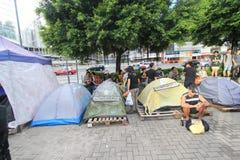 Os ativistas 2015 de Hong Kong marcham antes do voto no pacote eleitoral Fotos de Stock