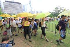 Os ativistas 2015 de Hong Kong marcham antes do voto no pacote eleitoral Foto de Stock Royalty Free